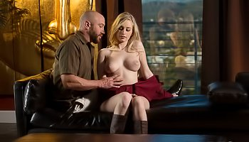 Hot blonde is being punished tenderly