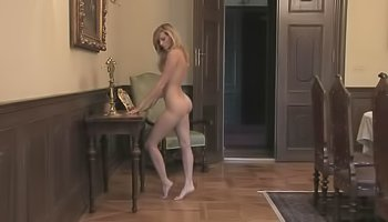 Kinky blonde is practicing sweet solo