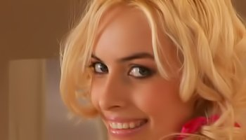 Sensual blonde is enjoying sweet solo