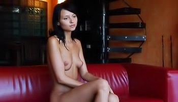 Kinky brunette's great solo session