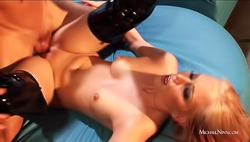 Beautiful blonde sucks cock and fucks hard