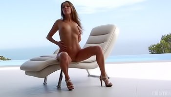 Sweet brunette is enjoying great solo