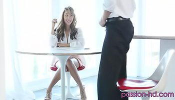 Young blonde is being fucked tenderly