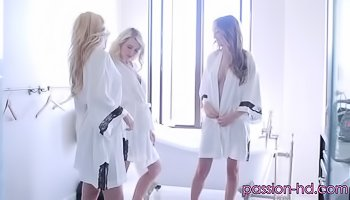 Three ladies are sharing big dick