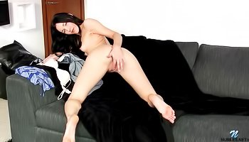 Horny princess is touching herself