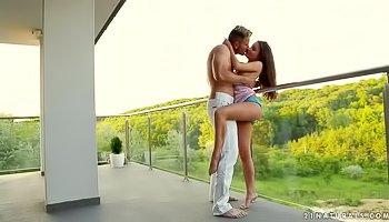 Having sex on the balcony