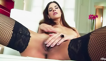 Juicy model is touching her cunt