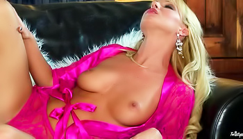 This blonde is pretty hot in pink