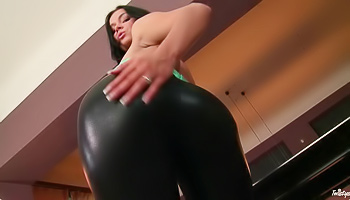 Twisted pussy teasing from behind