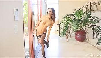 Different stockings, still the same slut
