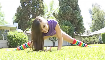 Solo from the babe in colorful socks