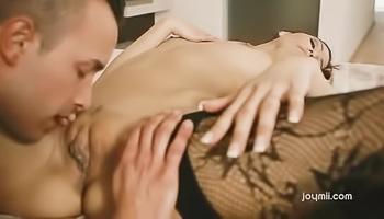 Stockings-clad slut gets boned on cam