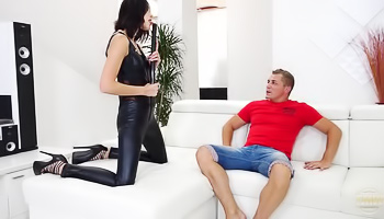 Brunette lady gets fucked really hard