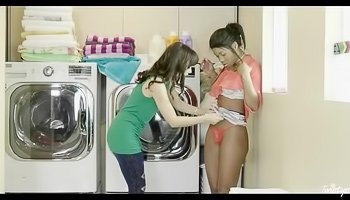 Laundry room seduction and hot sex