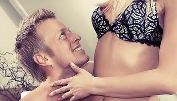 Wonderful blonde gets banged tenderly