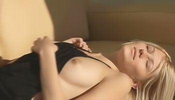 Young blonde is showing her body