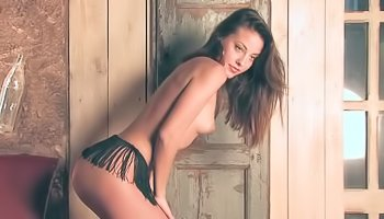 Hot slut is showing striptease skills