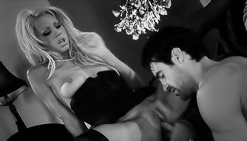 Black and white porn movie