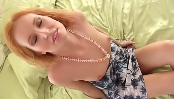 Ginger slut is practicing solo session