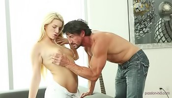 Strong fellow is penetrating sweet blonde