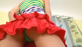 Solo from the chick in red skirt