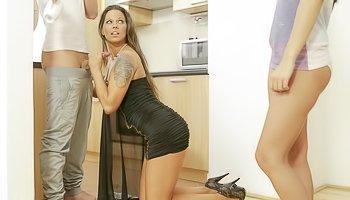 Kinky ladies are sharing big penis