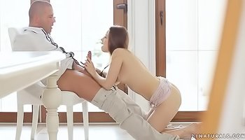 Juicy girl is riding strong dick