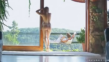 Flexible slutty blonde penetrated in different positions