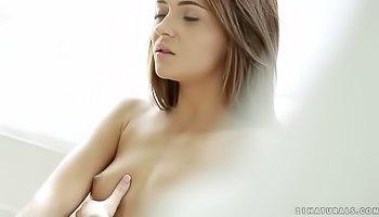 Elegant girl is fingering her pussy