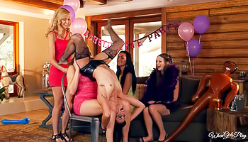 After-party lesbian fucking session in HD
