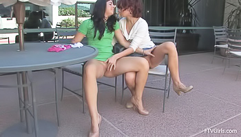 Lesbian ladies are pleasing each other