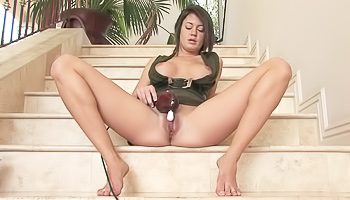 Sensual solo on the stairs