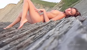 Lone seductress on the shore