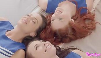 Cheerleader girls enjoy lesbo sex