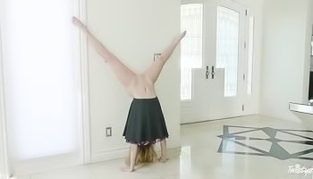 Handstands and hot sex with a teen